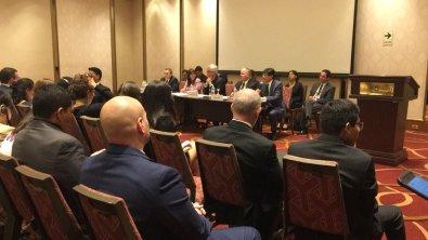 Los actores sociales presentación su posición ante los gobiernos - 12 de abril (Foto archivo OEA)