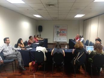 Reunión de representante del Foro Ciudadano de las Américas