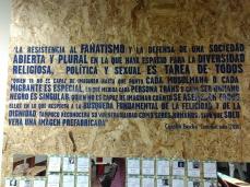 Texto que acompañó el homenaje a los activistas y líderes asesinados